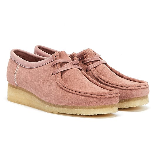 Clarks Wallabee Suede Womens Dusty Pink Shoes