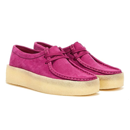 Clarks Wallabee Cup Nubuck Womens Berry Shoes
