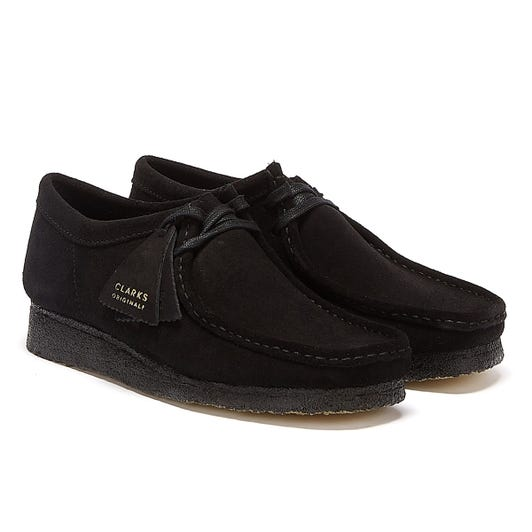 Clarks Wallabee Mens Black Shoes