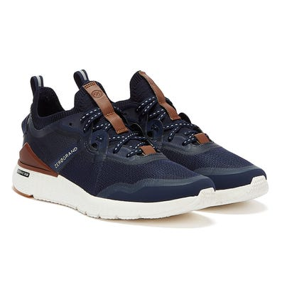 Cole Haan ZeroGrand Overtake Mens Navy / White / Brown Trainers