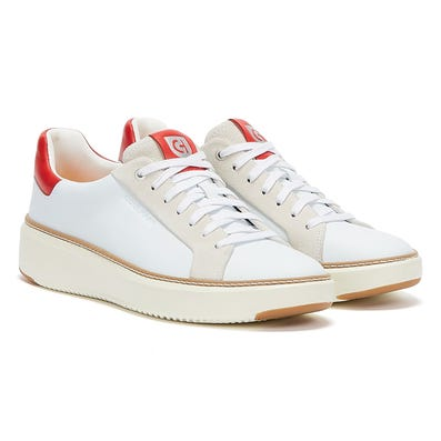 Cole Haan GrandPro TopSpin Mens White Red Trainers