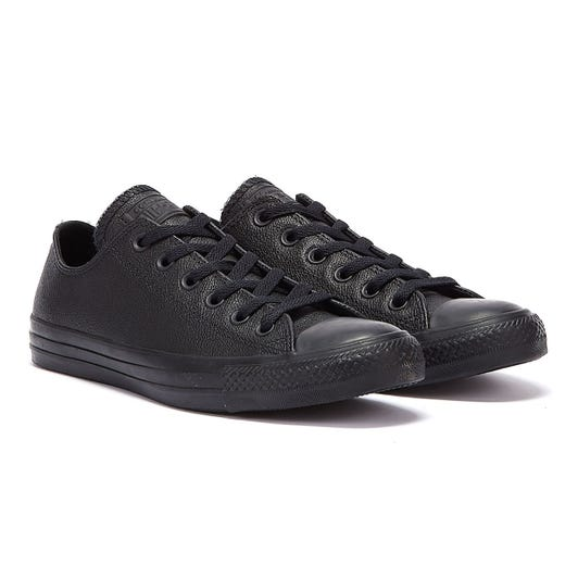 Converse Black All Star OX Leather Trainers