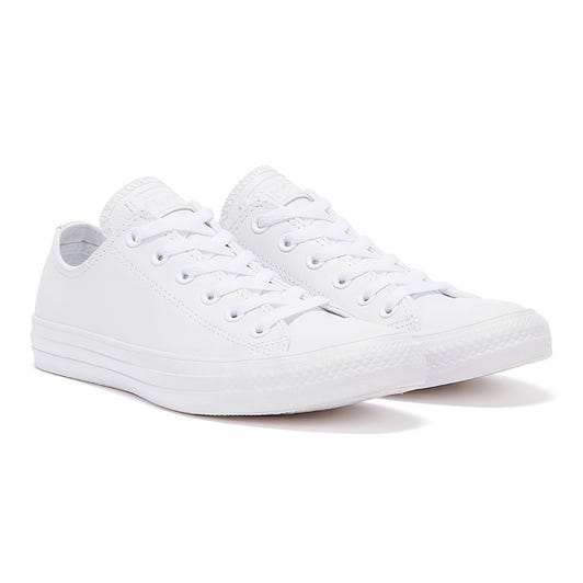 Converse White All Star OX Low Leather Trainers