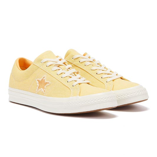 Converse One Star Mens Butter Yellow Ox Trainers