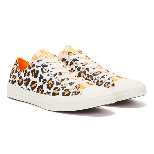 Converse All Star Twisted Archive Ox Womens White / Orange Trainers