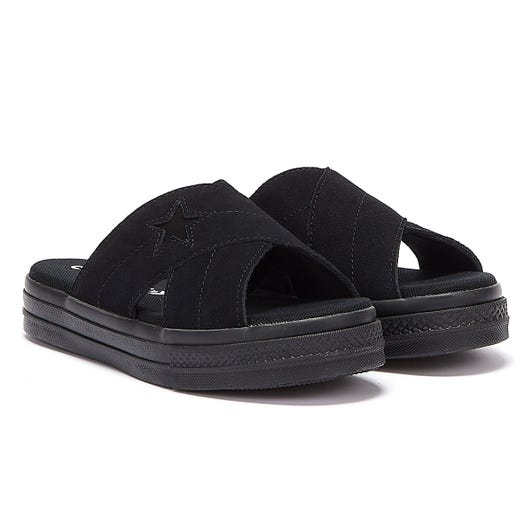 Converse One Star Womens Black Sandals