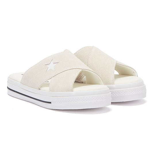 Converse One Star Womens White Sandals