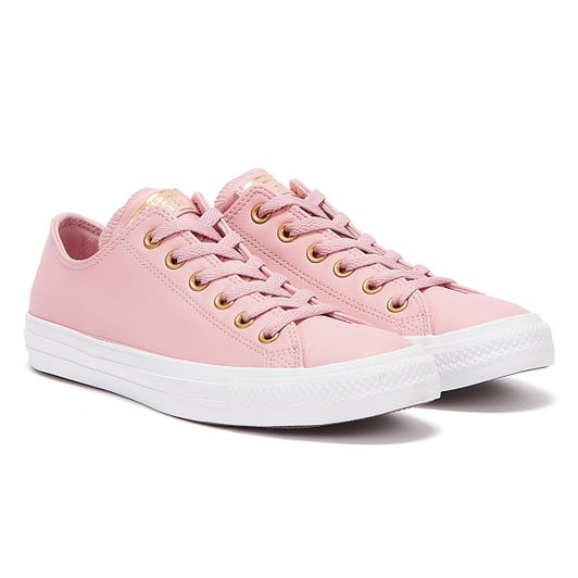 Converse All Star Leather Ox Womens Lotus Pink Trainers