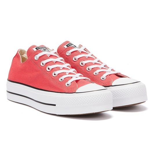 Converse All Star Lift Ox Womens Carmine Pink Trainers