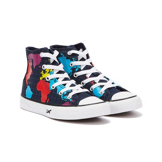 Converse All Star Worldwide Hi Junior Navy Trainers