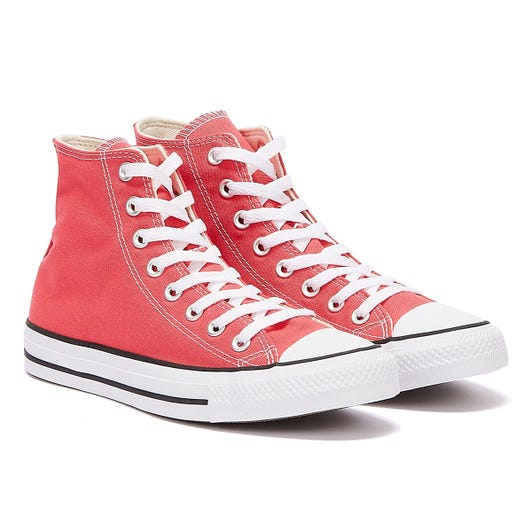 Converse All Star Hi Womens Carmine Pink Trainers