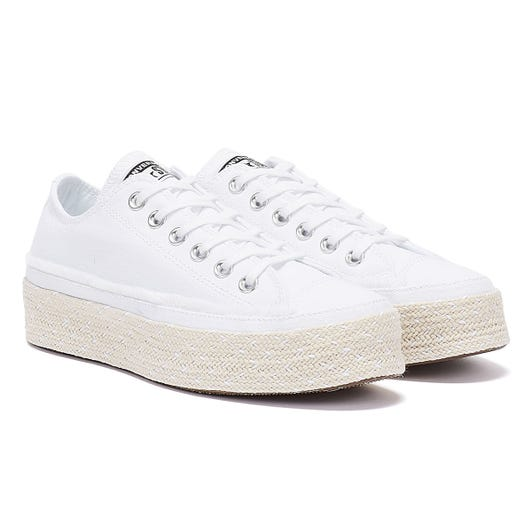 Converse All Star Espadrille Womens White Trainers