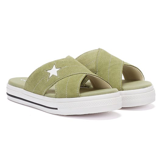 Converse One Star Womens Olive Sandals
