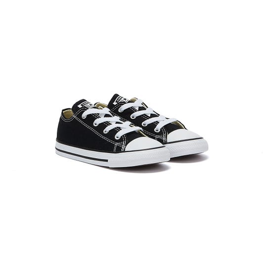 Converse Infant Black All Star Ox Trainers