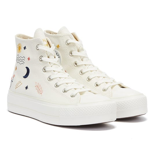 Converse All Star Lift It's Ok To Wander Hi Womens White Trainers