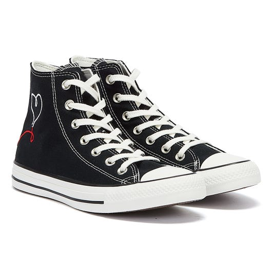 Converse All Star Valentine's Day Hi Womens Black / White Trainers