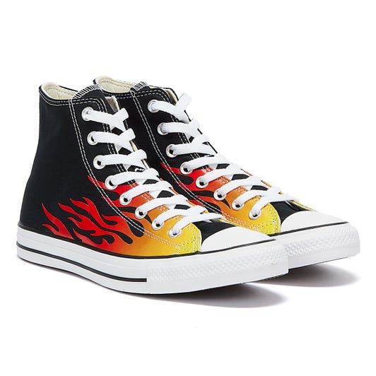 Converse All Star Archive Flame Hi Mens Black / White Trainers