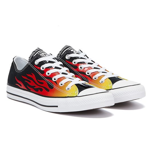 Converse All Star Archive Flame Ox Mens Black / White Trainers