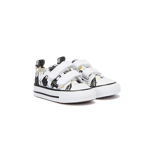 Converse All Star Jungle Fun Infant White / Black Trainers