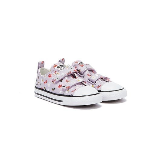 Converse All Star Explore Nature Ox Infants Lilac / White Trainers