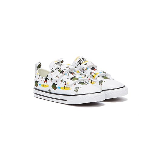 Converse All Star Croco Surf Ox Infants White Trainers