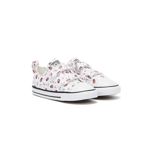 Converse All Star Flowery Bugs Ox Infants White Trainers