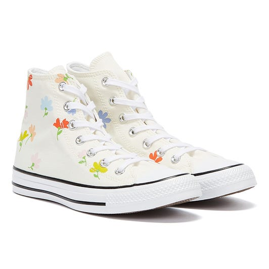 Converse All Star Garden Party Hi Womens Cream / Multi Trainers