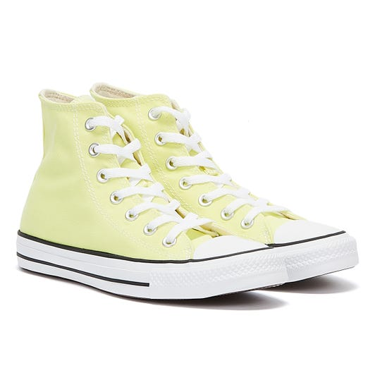 Converse All Star Hi Womens Light Yellow Trainers