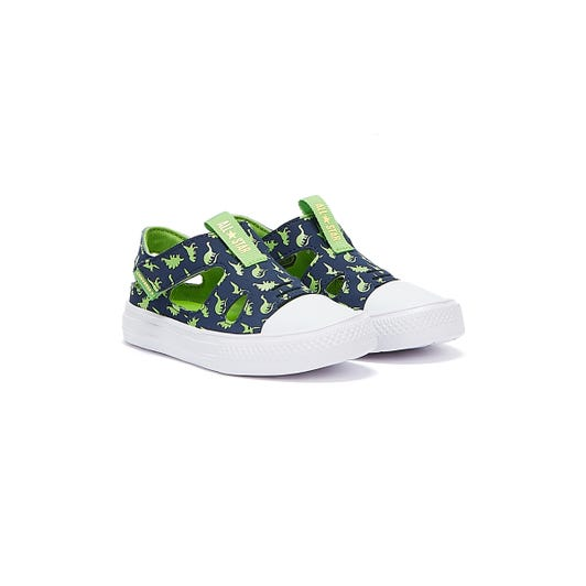 Converse All Star Superplay Dinoverse Infants Navy / Green Sandals