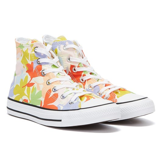 Converse All Star Garden Party Hi Womens White / Multi Trainers