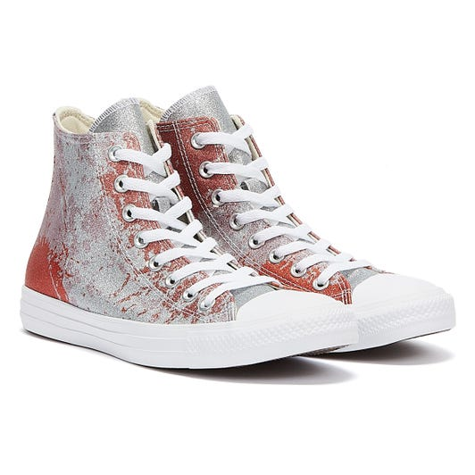 Converse Chuck Taylor All Stars Hi Top Womens Fire Pit / Himalayan / Salt White Trainers