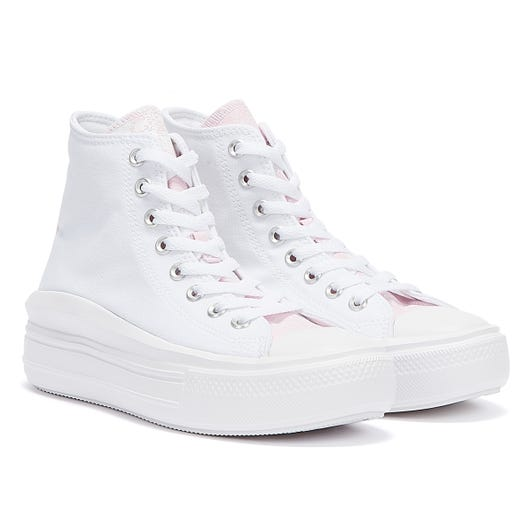 Converse Chuck Taylor All Stars Move Womens White / Pink Foam Trainers