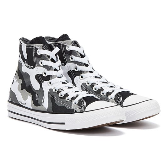 Converse Chuck Taylor All Star High Top Mens White / Black / Dolphin Trainers