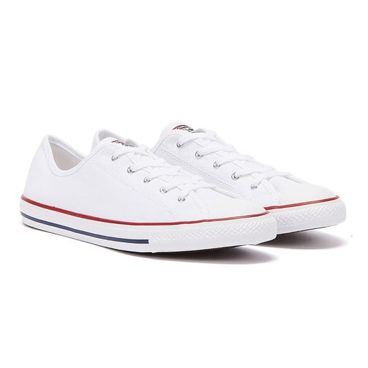 Converse Chuck Taylor All Star Dainty Womens White / Red Ox Trainers