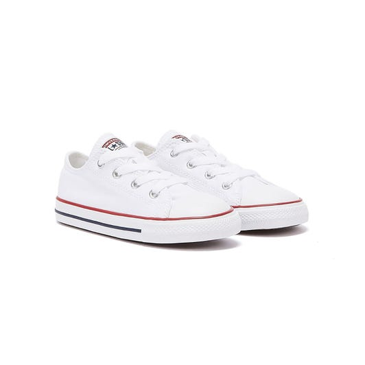 Converse Toddler White All Star Ox Trainers