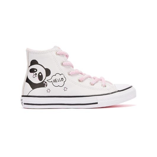 Converse All Star Notes From BFF Hi Junior White Trainers