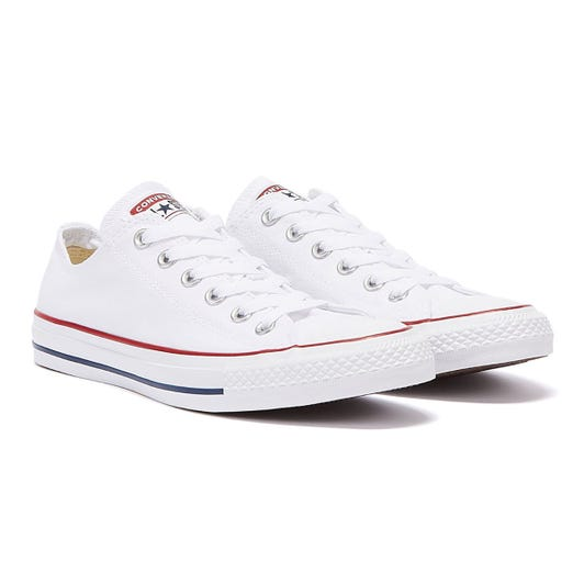 Converse All Star Low Mens White Canvas Trainers