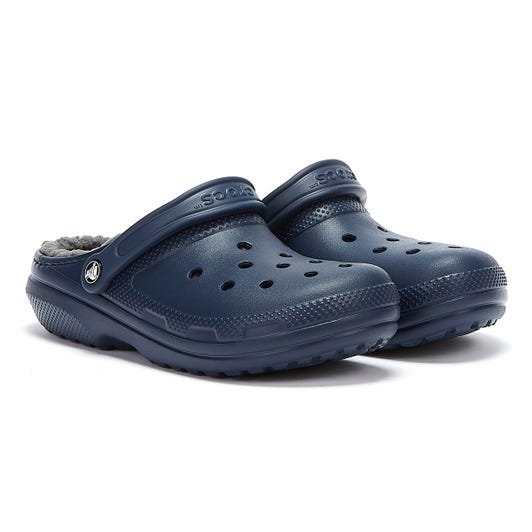 Crocs Classic Lined Womens Navy / Charcoal Clogs