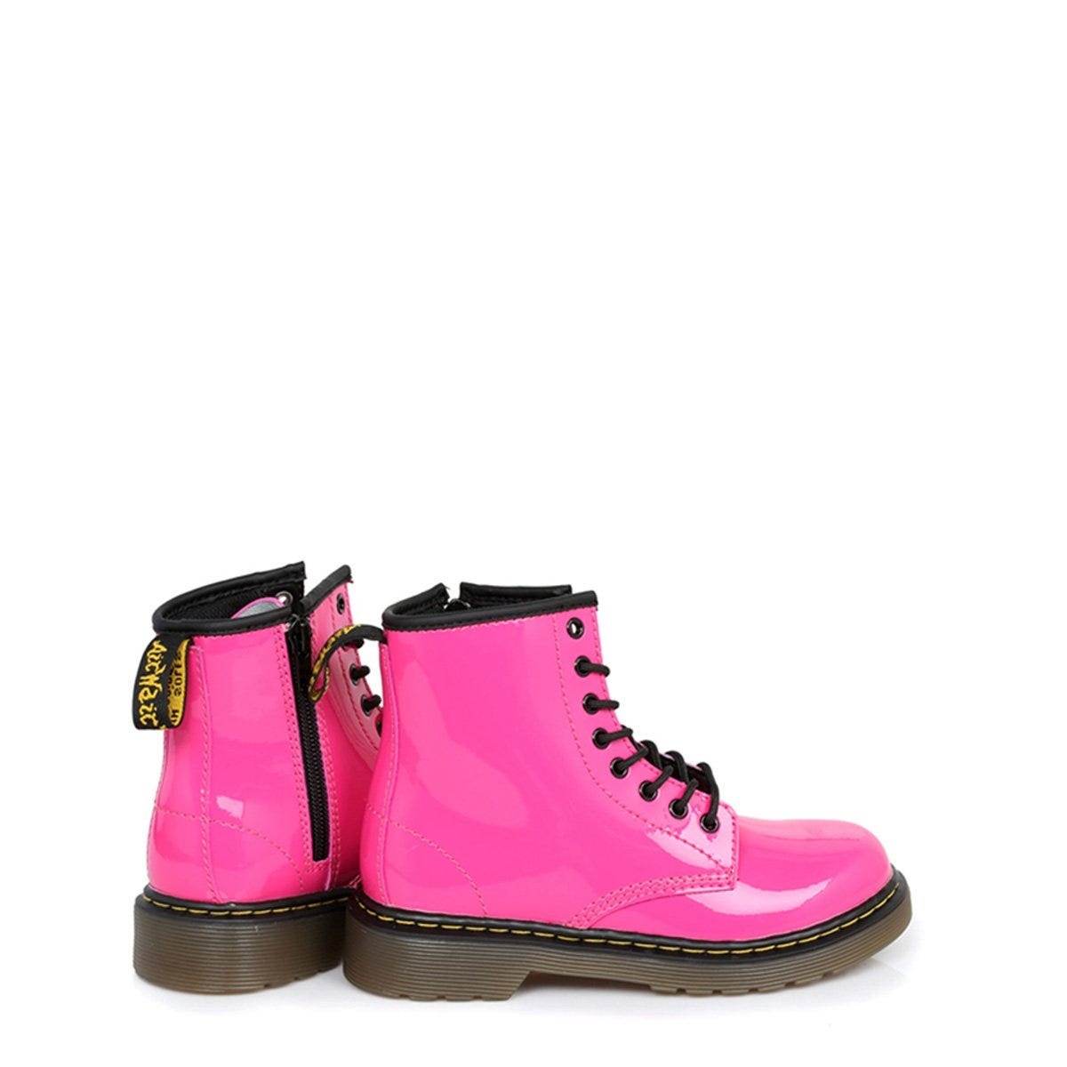 Dr-Martens-Enfants-Delaney-Hot-Rose-Chaussures-Bottes-Bottines-Decontractees
