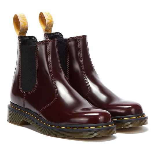 Dr. Martens 2976 Oxford Rub Off Cherry Red Boots
