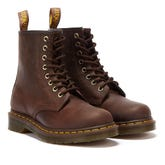 Dr. Martens 1460 Crazy Horse Gaucho Brown Leather Ankle Boots