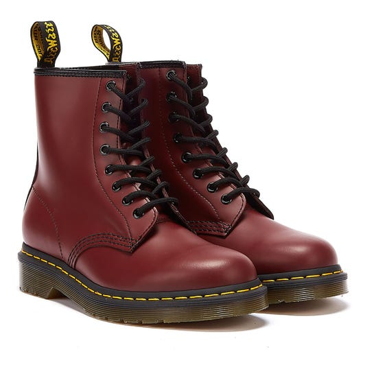Dr. Martens 1460 Smooth Womens Cherry Red Leather Boots