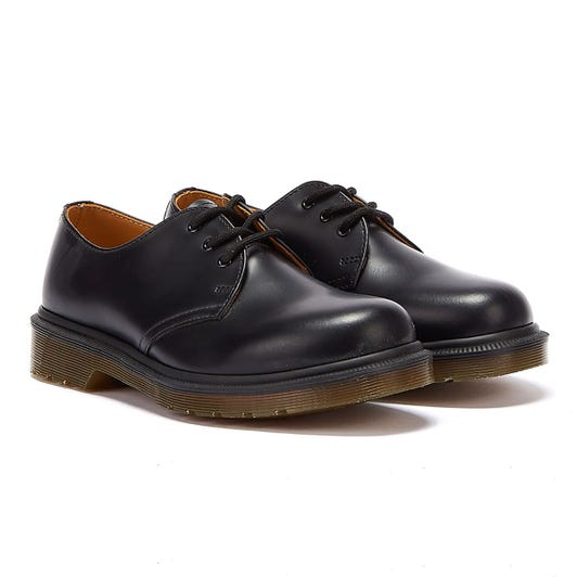 Dr. Martens 1461 Womens Black Smooth Leather Smart Shoes