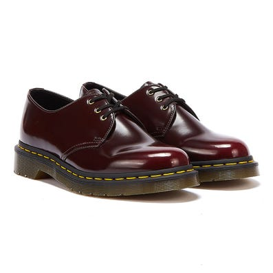 Dr. Martens 1461 Vegan Womens Cherry Red Shoes