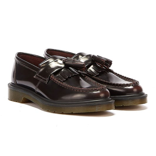 Dr. Martens Cherry Red Adrian Leather Loafers