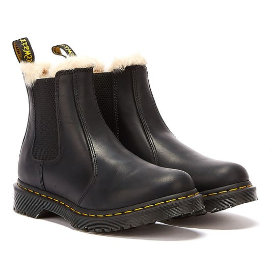 Dr. Martens Womens Black Burnished Wyoming Leonore Boots