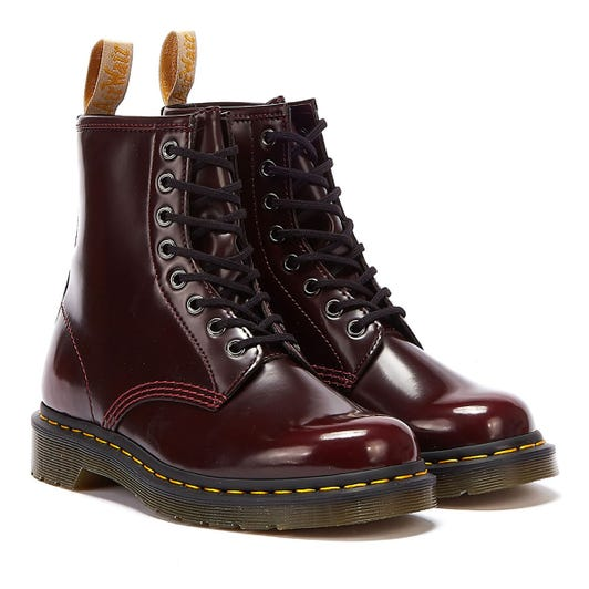 Dr. Martens 1460 Vegan Womens Cherry Red Boots