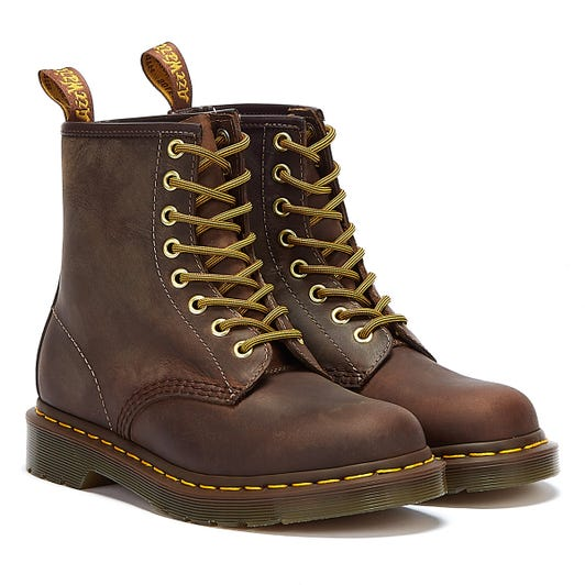 Dr. Martens 1460 Crazy Horse Aztec Brown Leather Ankle Boots