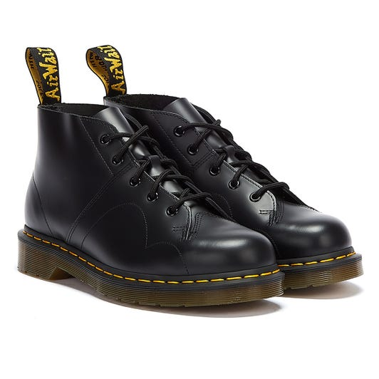Dr. Martens Church Monkey Smooth Womens Black Boots