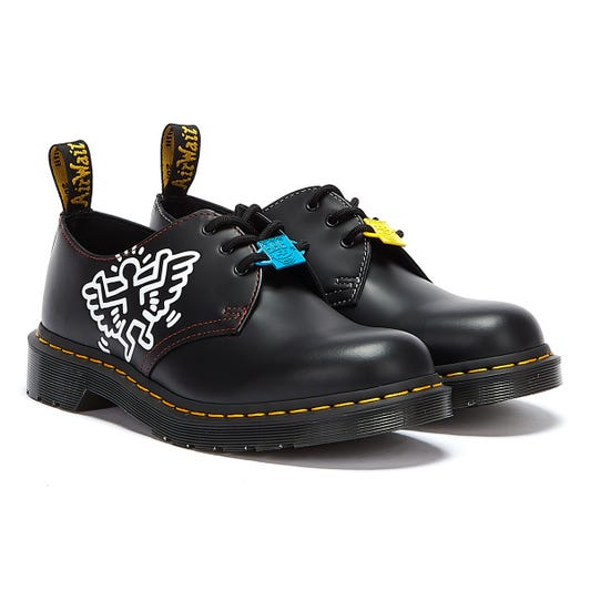 Dr. Martens x Keith Haring 1461 Smooth Black / White Shoes